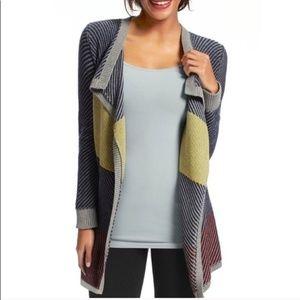 CAbi   Blanket Color-block Cardigan